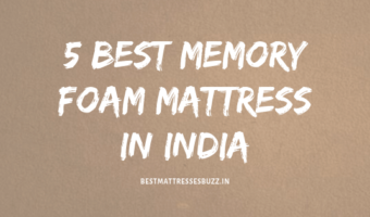 best memory foam mattress in india